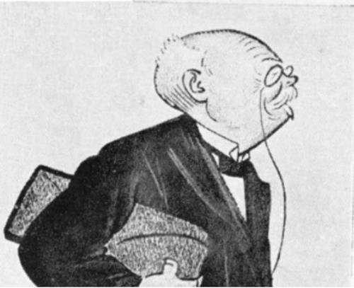 Slobodan Jovanović na karikaturi Pjera Križanića