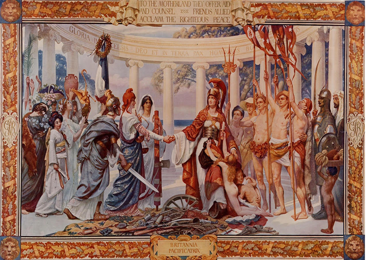 Mural Britannia pacificatrix