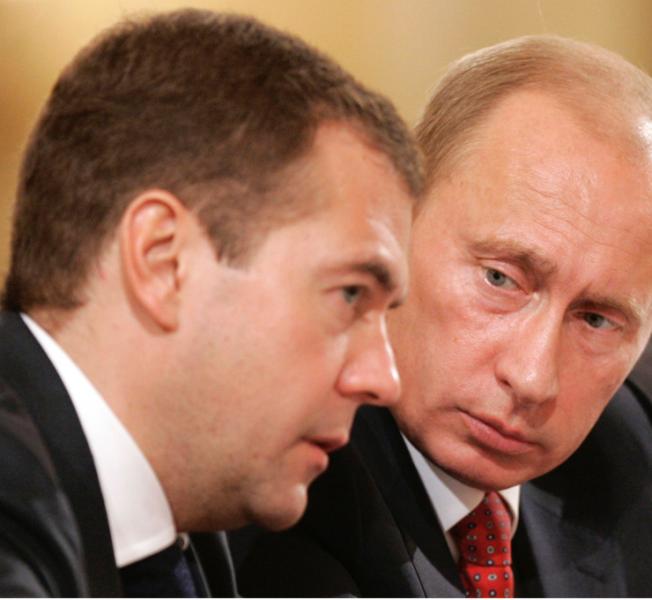Dimitrij Medvedev i Vladimir Putin