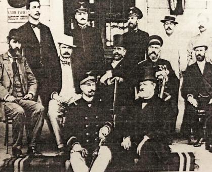 Osoblje železničke stance Beograd, 1890.
