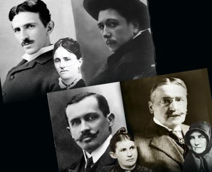 Nikola Tesla, Radoje Domanović, Jovan Skerlić, Mihailo Pupin