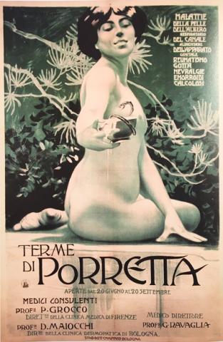 """SPA POSTER IZ 1902: U komforu belle epoque razvlačila se srpska """"gospoda"""", trudili su se da makar malo budu kao čuvene trošadžije (big spenders) iz džet-seta, ta je sveža balkanska dokoličarska bratija (još-ne-klasa) žustro učestvovala u Grand tour, putovali su i odsedali po Grand hotelima, uživali u nemačkim, austrijskim, italijanskim, švajcarskim alpskim termalnim izvorima. Predavali se toplim kupkama za zdravlje i odmor, pili isceliteljske min"""