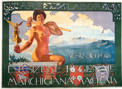Poster iz 1905: Ako se žena ranije izjednačavala sa muzama, anđelima, nimfama, boginjama, ili sa vešticama, prostitutkama, kučkama, sa modernim dobom postaje radnica.